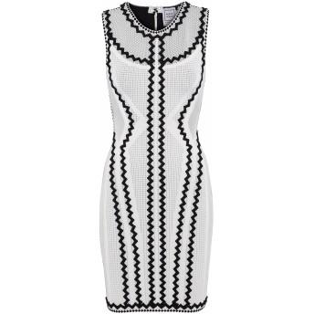 《セール開催中》HERV LGER レディース ミニワンピース&ドレス ホワイト XS レーヨン 90% / ナイロン 9% / ポリウレタン 1%