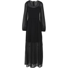 《期間限定セール開催中!》RUE8ISQUIT レディース ロングワンピース&ドレス ブラック 42 ポリエステル 100%
