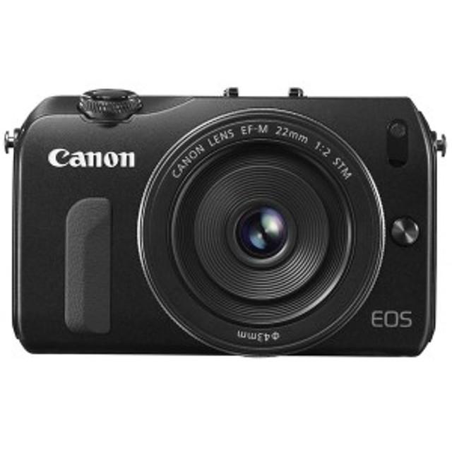 【中古 保証付 送料無料】Canon EOS M レンズキット EF-M 22mm F2 STM付属 / デジタルカメラ  / ミラーレス/一眼レフカメラ 初心者