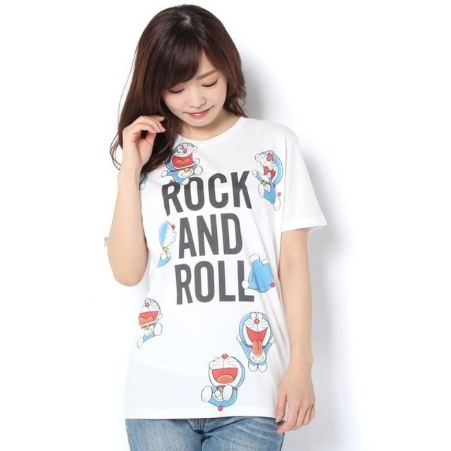 Daily russet / デイリーラシット 【rockin'star★】ドラえもんROCK AND ROLL/Tシャツ