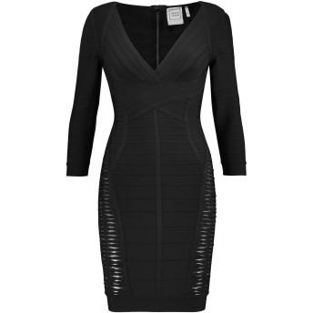 《セール開催中》HERV LGER レディース ミニワンピース&ドレス ブラック XS レーヨン 90% / ナイロン 9% / ポリウレタン 1%