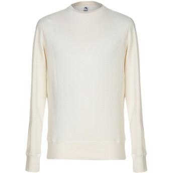 《セール開催中》DOPPIAA メンズ スウェットシャツ アイボリー M コットン 100%