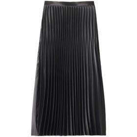 allureville アルアバイル 【Loulou Willoughby】ニッケルサテンアコーディオンプリーツスカート ブラック