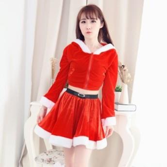 クリスマス サンタ 女性 レディース 仮装 コスチューム 大人衣装 コスプレ 可愛い セットアップ