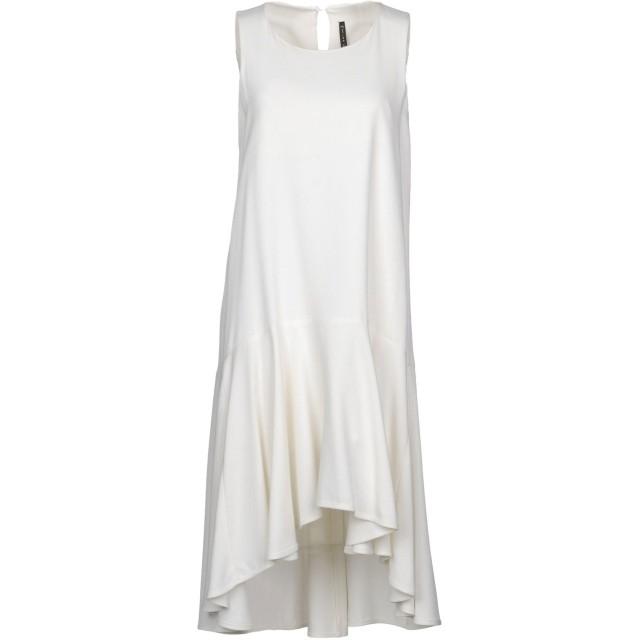 《セール開催中》MANILA GRACE レディース ミニワンピース&ドレス アイボリー 38 レーヨン 100%