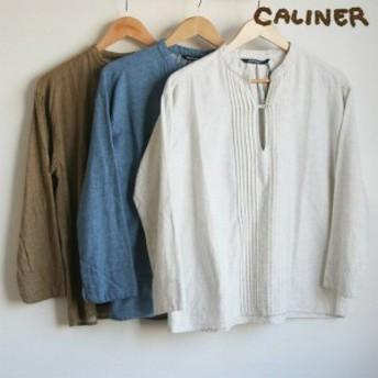 【30%OFF】caliner(カリネ) コットンツイル無地プルオーバー 【ナチュラル服】【チェック柄】【