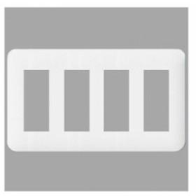 パナソニック コンセントプレート 4連用 12コ用 ラウンド ホワイト WTF7012W