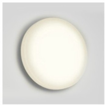 オーデリック LED一体型バスルームライト FCL30W相当 丸型 防雨・防湿型 壁面・天井面・傾斜面取付兼用 電球色タイプ OG254318