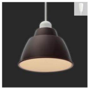 アイリスオーヤマ LEDペンダントライト 《Gammel Plas S》 一般電球40W形相当 電球色相当 E17口金 引掛シーリング取付式 ブラウン PL5L-E