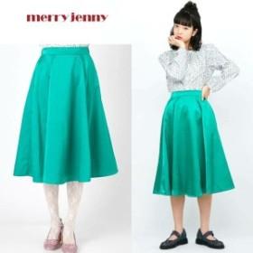 merry jenny メリージェニー サテンボンディング フレアスカート
