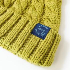 94a0bda71d34c ニット帽 - devirock [ポンポン付きケーブル編みニットキャップ 男の子 女の子 帽子 全4