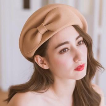 ベレー帽 - Ruby's Collection ビッグリボンデザインの上品ベレー帽 ベレー帽/ベレー/帽子/秋冬/エレガント/ガーリー/上品/気品
