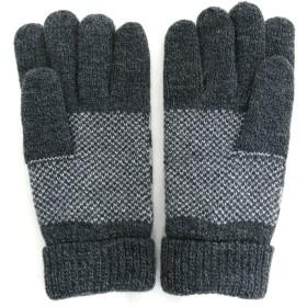 手袋 - MARUKAWA EDWIN 手袋 メンズ 裏フリース 冬 アクリル100% ホワイト/グレー/ブラック【 暖かい 通勤 通学 おしゃれ てぶくろプレゼント 】