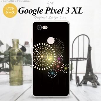 Google Pixel 3 XL ピクセル 3 XL 専用 スマホケース ソフトケース 花火(A) 黒 nk-px3x-tp215