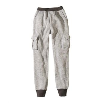 【もっとゆったりサイズ】あったかニットフリースカーゴパンツ(男の子。女の子 子供服) パンツ