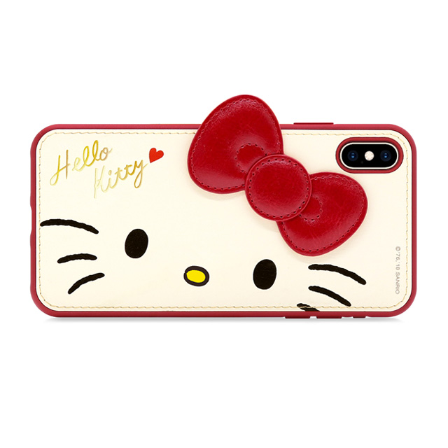 GARMMA Hello Kitty iPhone XR 6.1 Xs Max 6.5 X/XS 5.8 i7/8 5.5 燙金皮革保護套