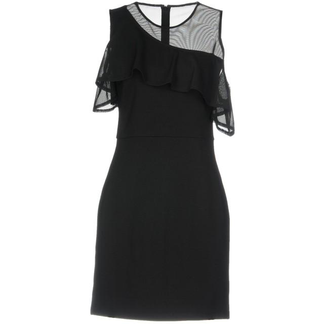 《セール開催中》FRENCH CONNECTION レディース ミニワンピース&ドレス ブラック M ポリエステル 95% / ポリウレタン 5%