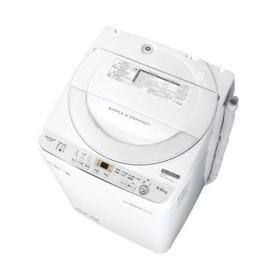 【長期保証付】シャープ ES-GE6C-W(ホワイト) 全自動洗濯機 上開き 洗濯6kg