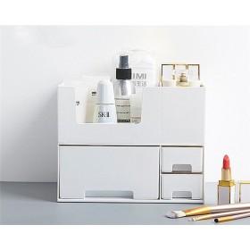 化粧品収納 収納ケース コスメボックス メイク用品収納 小物入れ 大容量 取っ手付 ミラー付き