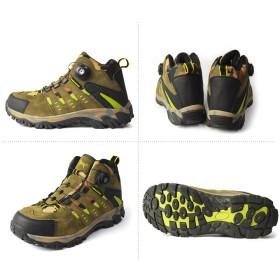 ブーツ - ShoeSquare アウトドアシューズ メンズ トレッキングシューズ 登山靴 メンズブーツ 防滑 ダイヤル式 メッシュ カジュアルシューズクッションインソール