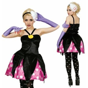 ハロウィン コスプレ ディズニー 衣装 大人 仮装 レディース リトルマーメイド VILLAINS Costume Adult