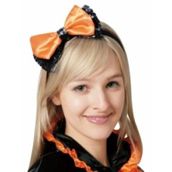 ハロウィン コスプレ 衣装 グッズ ヘッドバンド オレンジリボン Headband カチューシャ ハロウィン 衣装