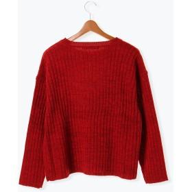 ニット・セーター - Lugnoncure ウール混ワイドリブプルオーバー