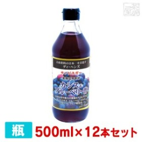 サンビネガー 生搾り カシス&ブルーベリー酢 500ml 12本セット 瓶  業務用 割り材 希釈用