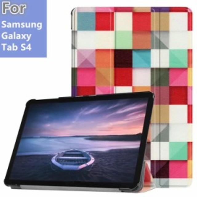 Samsung Galaxy Tab S4 10.5 インチSM-T830 (Wi-Fi)/SM-T835 (LTE) 2018年製タブレット用手帳型レザーケース 3つ折り 横開き【I494-C】