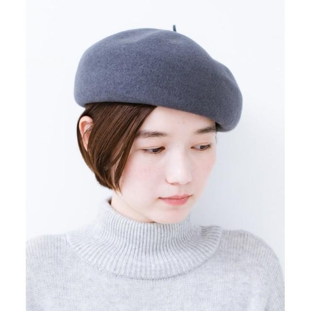 ハコ バスクベレー帽 レディース グレー N 【haco!】