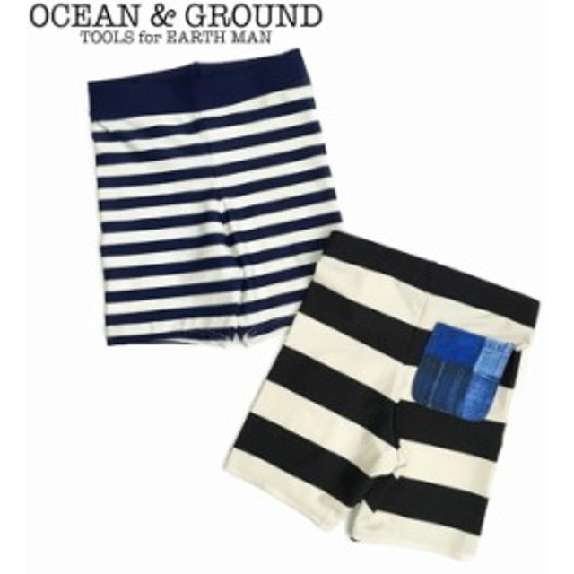 OCEAN&GROUND オーシャン&グラウンド 水着 キッズ 男の子 水着子供 ボーダー スイムウエア 全2色 1812811