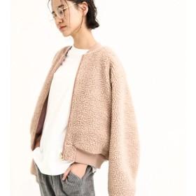 【オンワード】 koe(コエ) ・リバーシブルボアブルゾン Pink Beige F レディース