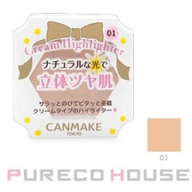 CANMAKE (キャンメイク) クリームハイライター #01 ルミナスベージュ【メール便可】
