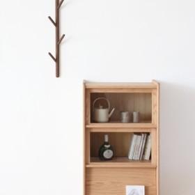 オーダーメイド 職人手作り 北欧家具 モダン 収納棚 シェルフ 食器棚 本棚 天然木 家具 木目 収納 サイズオーダー可