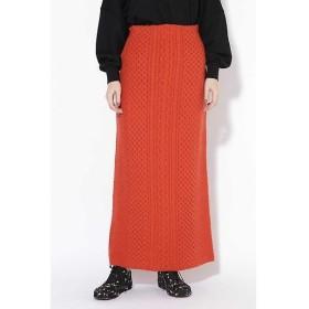ROSE BUD ケーブル編みニットスカート