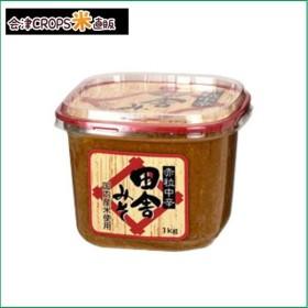 【1ケース】 田舎みそ 赤粒中辛 (1kg×6個) 松亀味噌 【同梱不可】【送料無料】