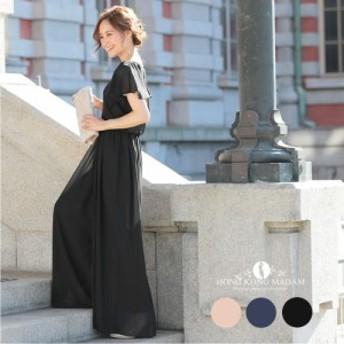 パーティードレス オールインワン オールインワン・ワイドパンツドレス(c1279) 結婚式ドレス 二次会 20代 30代 秋新作