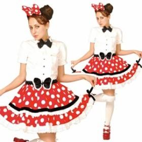 ハロウィン ディズニー コスプレ 衣装 キャラクター 大人 レディース ミニーマウス ゴシック チュチュ セット Gothic