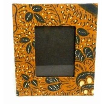 バティックの写真立て Sサイズ C フォトフレーム エスニック バリ アジアン アジアン雑貨