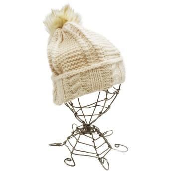 ニット帽 - KEYS 帽子 ニット帽 ニットキャップ ボンボン ケーブル編み メンズ レディース キーズ Keys-073