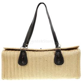 1339dc78c377 女性 ビーチ ストロー ショルダーバッグ ハンドバッグ 鞄 編み物 贈り物 全6色 - ベージュ 通販 LINEポイント最大1.0%GET    LINEショッピング【公式】