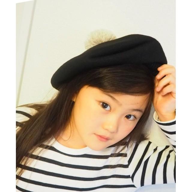 8e5c1655b7fad ベレー帽 - DONOBANKIDS 帽子 キッズフェルトベレー帽 ポンポン リボン ハット こども 女の子 DONOBAN MAMA