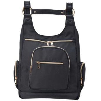 バッグ カバン 鞄 レディース リュック H型リュック カラー 「ブラック」
