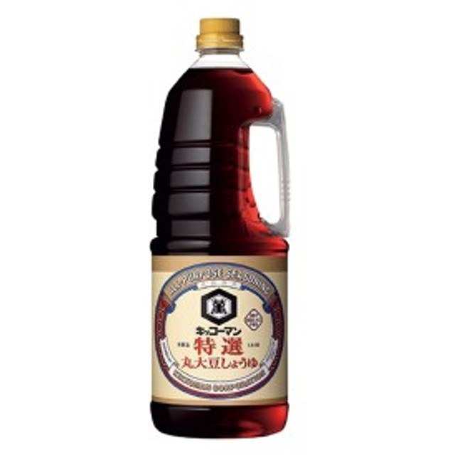 キッコーマン特選丸大豆しょうゆ ハンディペット1.8L×6本