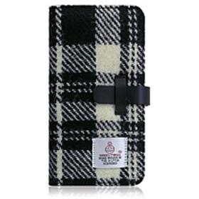 iPhone XS Max 6.5インチ用 Harris Tweed Diary ホワイト×ブラック SD13754I65