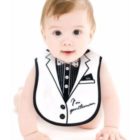 c342cb79e713e PURESTベビーコレクション ハンサムになる方法 小さな紳士服ビブ‧唾液タオル