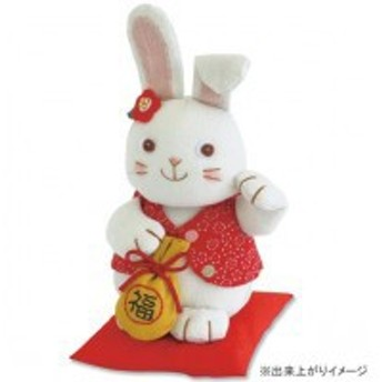 オリムパス 福村弘美のかわいいぬいぐるみキットシリーズ 招きウサギ PA-544