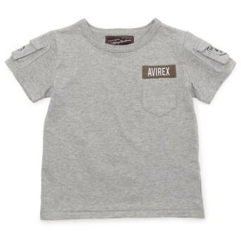 アヴィレックス AVIREX/アヴィレックス/ ファティーグ Tシャツ/ FATIGUE T SHIRT レディース GREY L 【AVIREX】