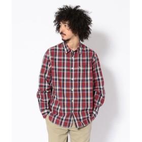 【20%OFF】 アヴィレックス AVIREX/アヴィレックス/長袖 チェックシャツ/CHECK SHIRT メンズ RED XL 【AVIREX】 【セール開催中】