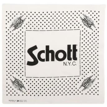 ショット Schott/ショット/COTTON BANDANA POLKA DOTS/バンダナ ポルカドット メンズ WHITE F 【Schott】
